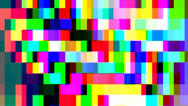 Abstract Blinking multicoloured rectangles in 80s style