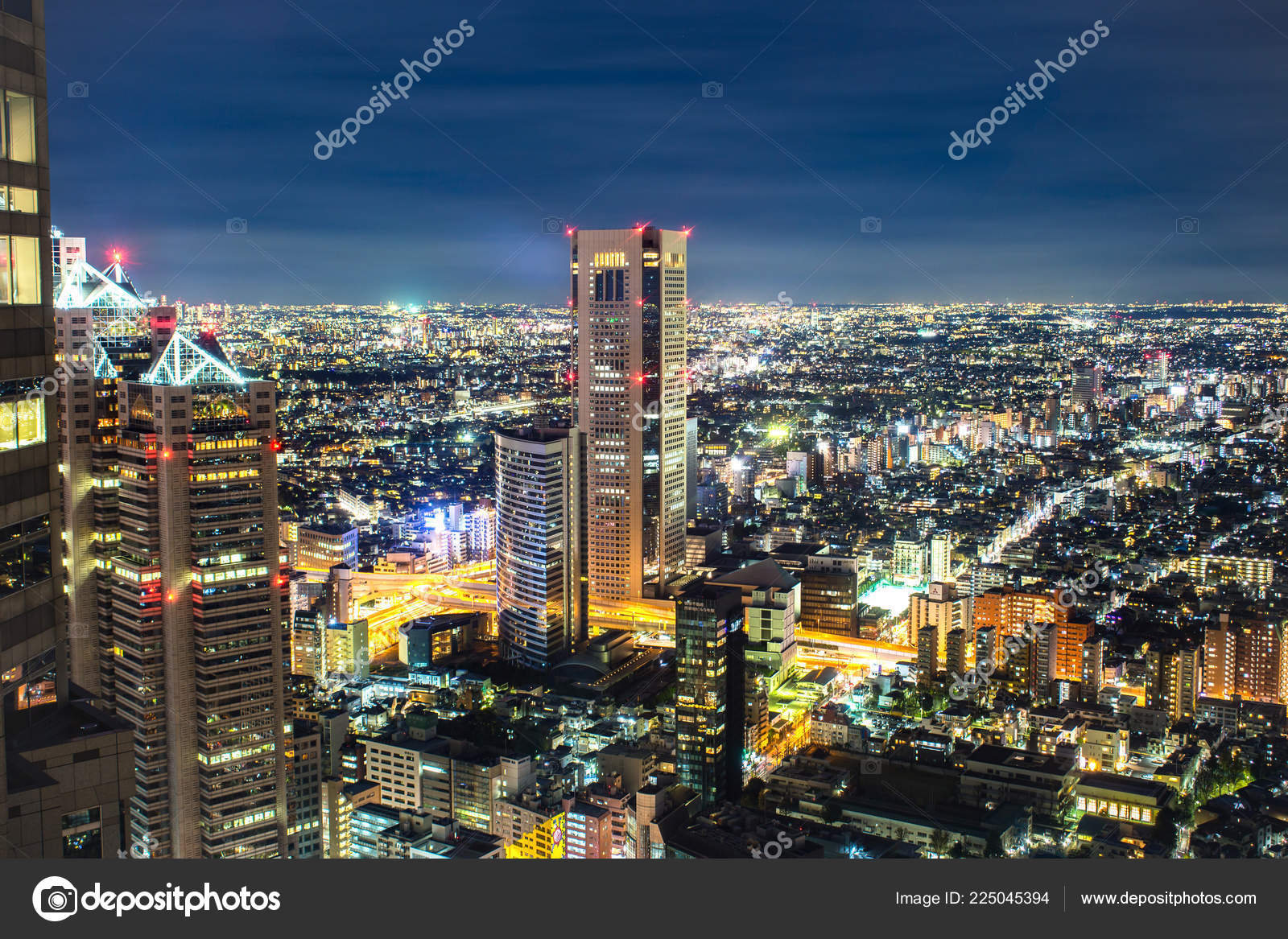 Capital City Japan One Busiest Cities World Magnificent View Tokyo