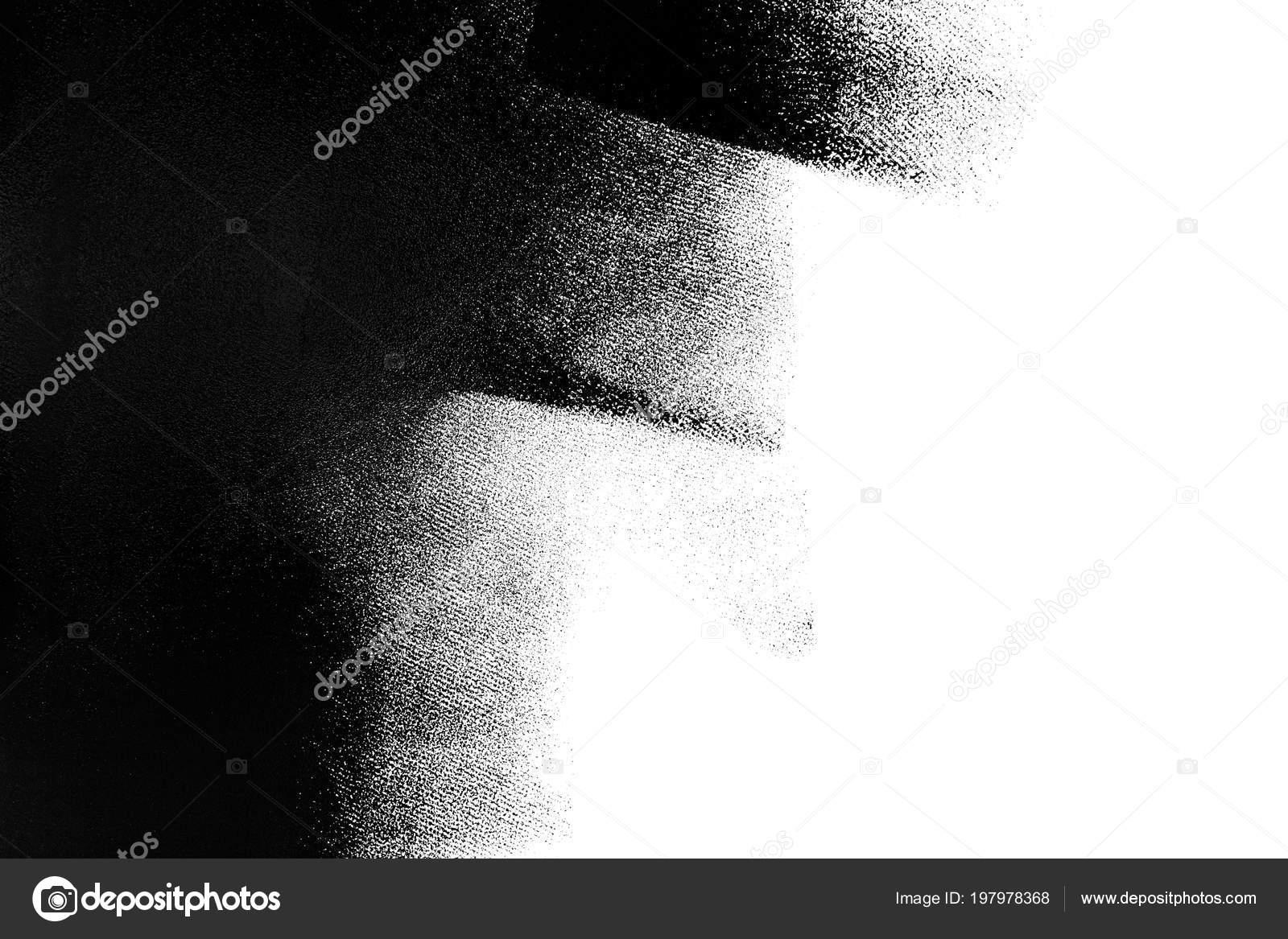 Mur Blanc Partiellement Peint En Noir Avec Un Rouleau à