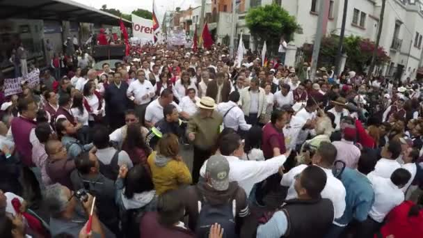 Puebla City, Puebla. Mexico. August 12, 2018. More than 8000 people asking to cancel the state elections for alleged electoral fraud.