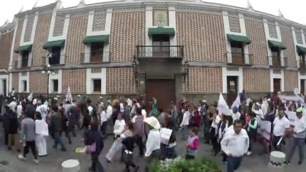 Puebla City, Puebla. Mexico. August 12, 2018. More than 8000 people asking to cancel the state elections for alleged electoral fraud. Fast Motion