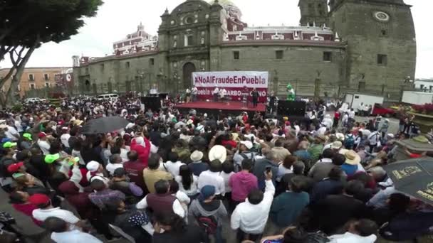 Puebla City, Puebla. Mexico. August 12, 2018. More than 8000 people asking to cancel the state elections for alleged electoral fraud. Meeting