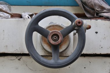The Crank Handle on the old lathe mechanism