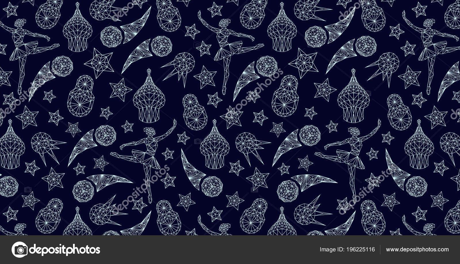 Behang Met Patroon : Russische behang wereld van rusland patroon met moderne traditionele