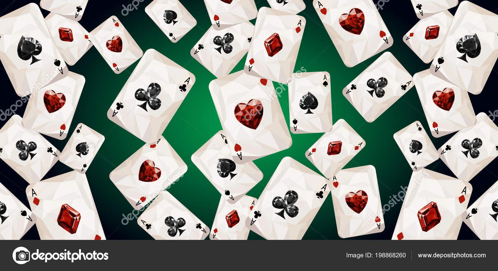 Playing Card Wallpaper Vector Illustration Wallpaper