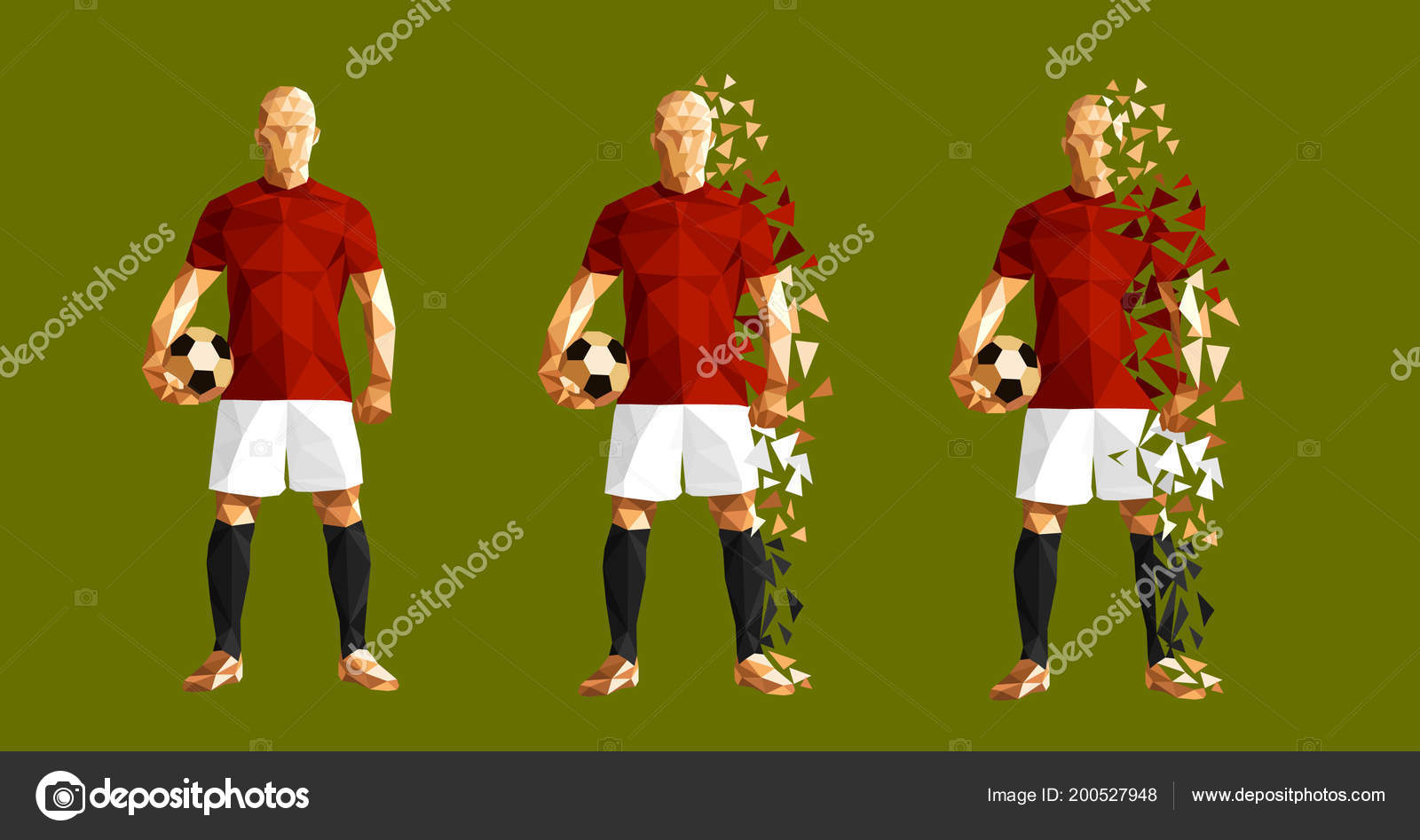 abacf27da56 Vector illustration soccer football player low-poly style concept egypt  kits uniform colour world cup 2018 russia championship — Vector by  vadymburla gmail. ...