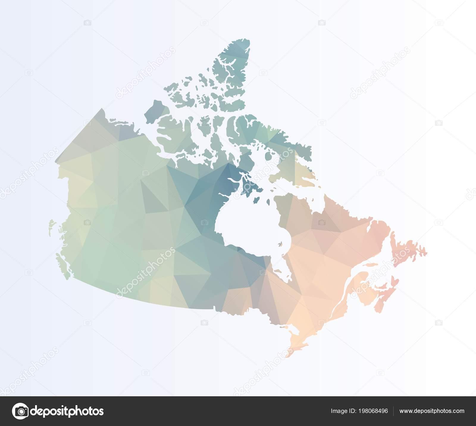 Map Of Canada Download.Polygonal Map Canada Stock Vector C Blacklava36 198068496