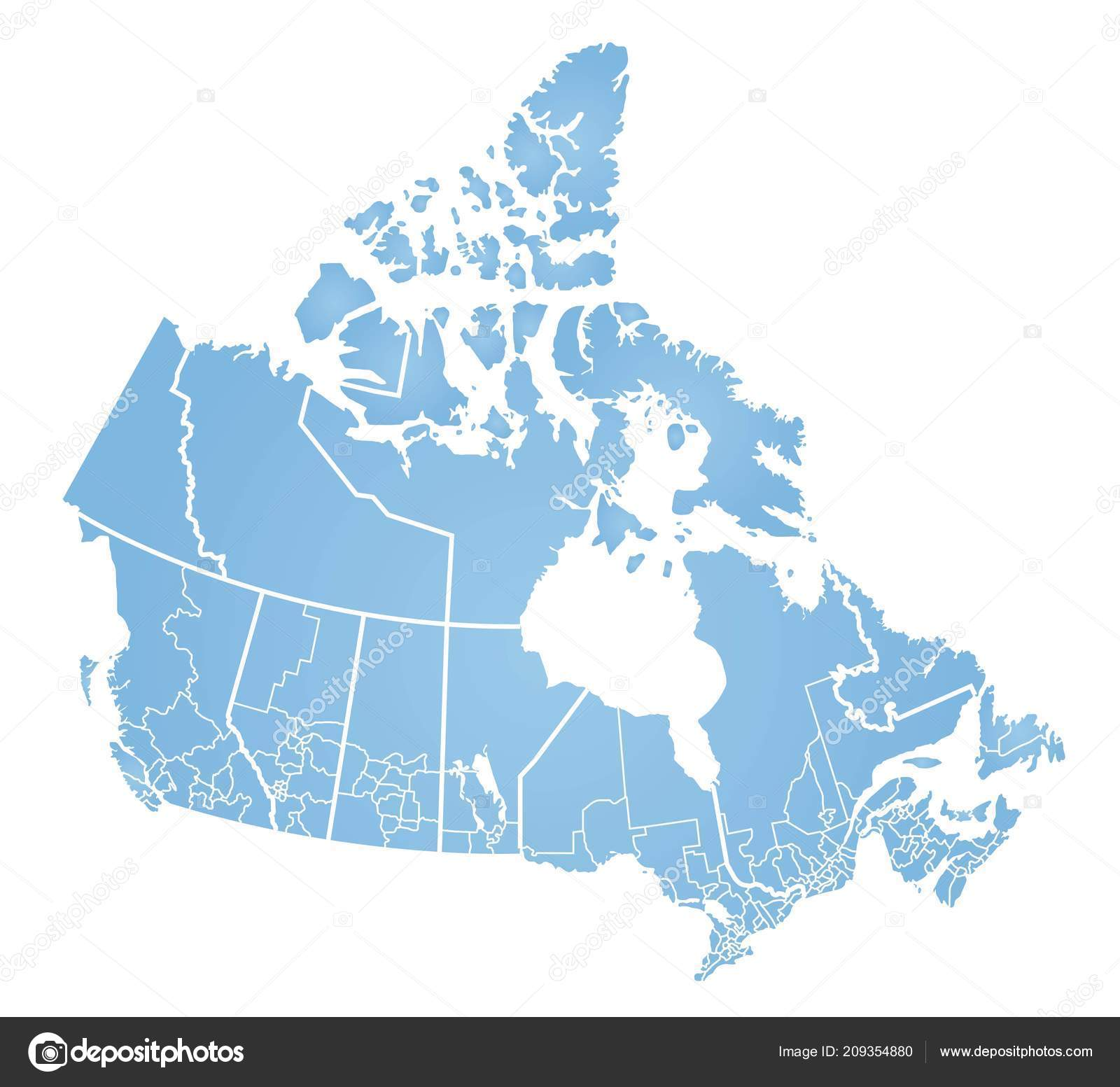 Detailed Map Of Canada.Detailed Map Canada Stock Vector C Blacklava36 209354880