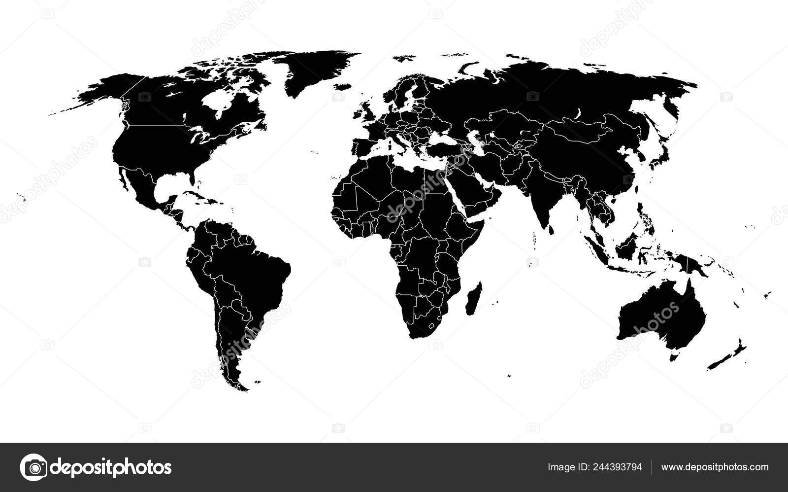 Picture of: Black World Map Countries Stock Vector C Blacklava36 244393794