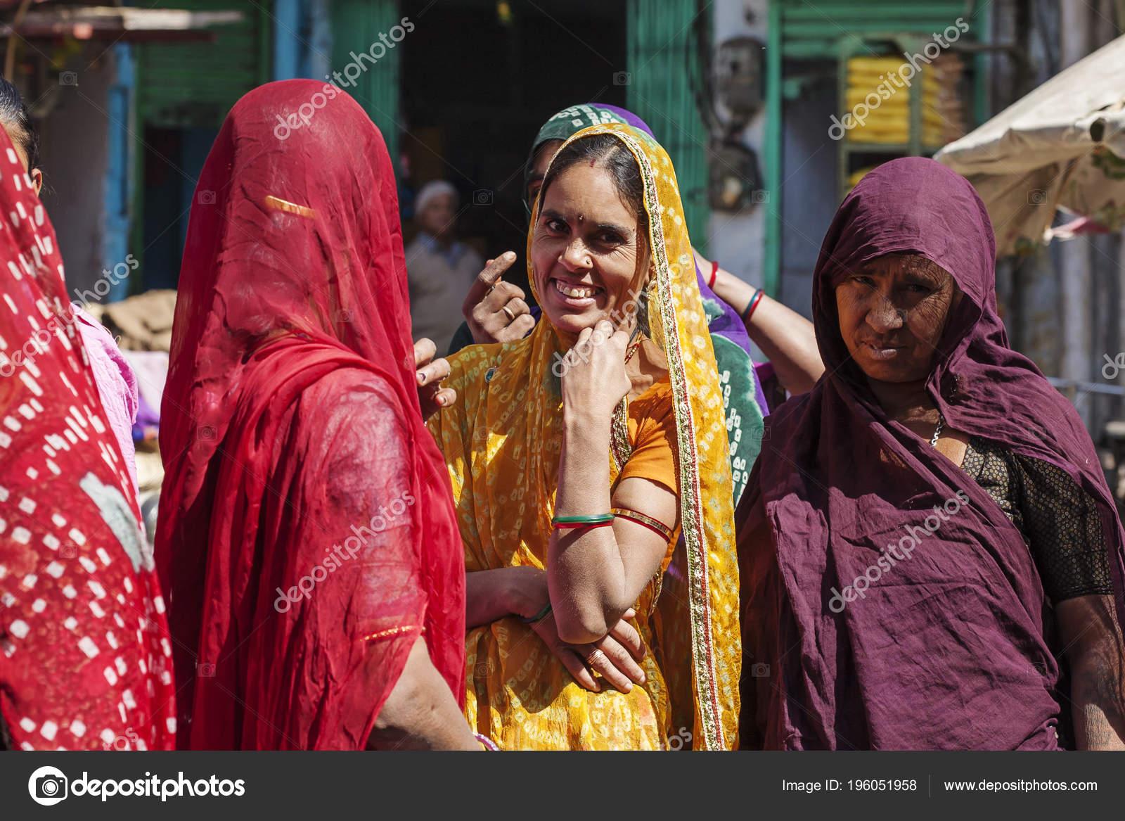 Ciudad Udaipur Rajasthán India Febrero 2018 Mujeres India