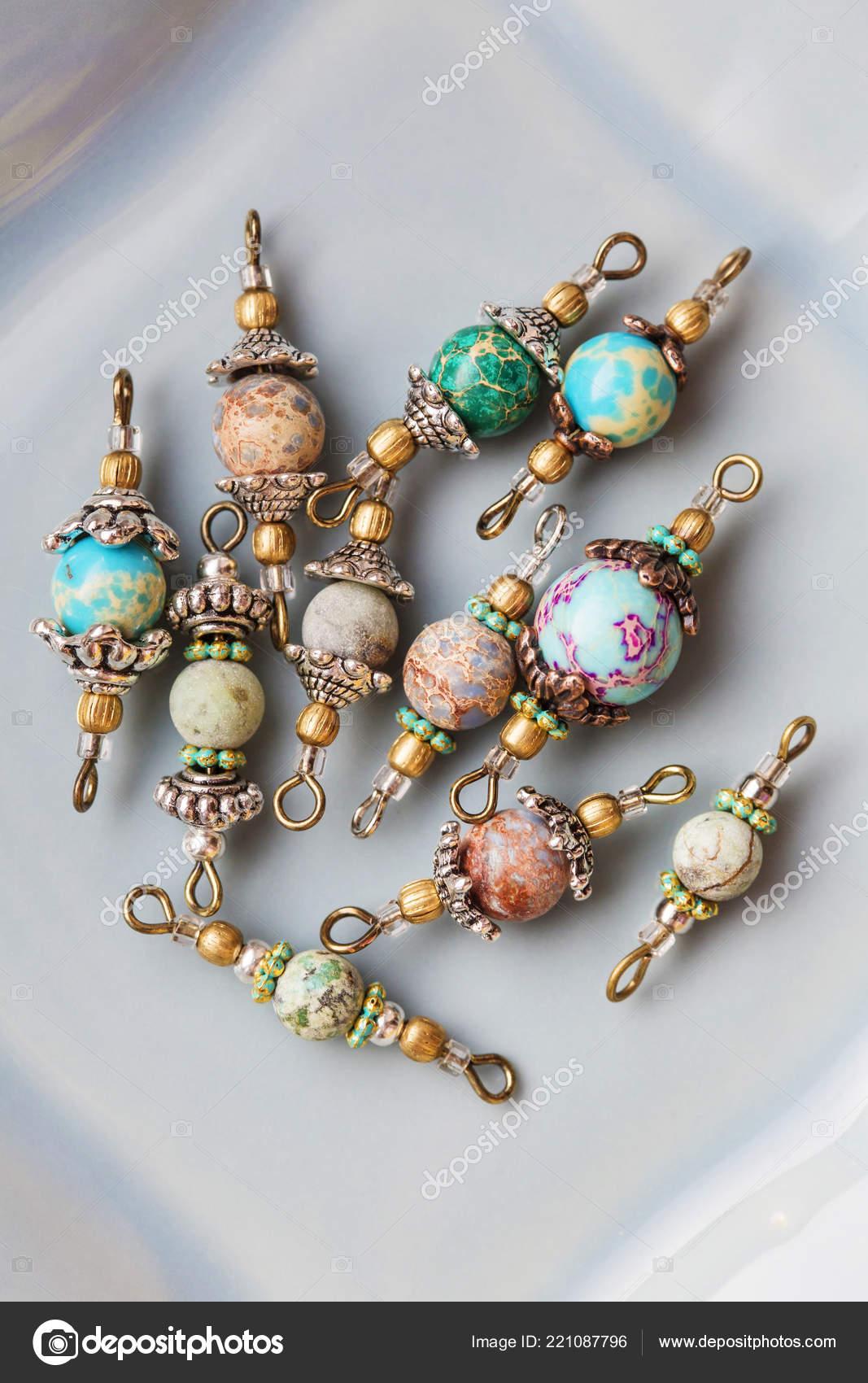 taille 40 eea35 6082c Perles Pierre Minérale Connecteurs Pour Fabrication Bijoux ...