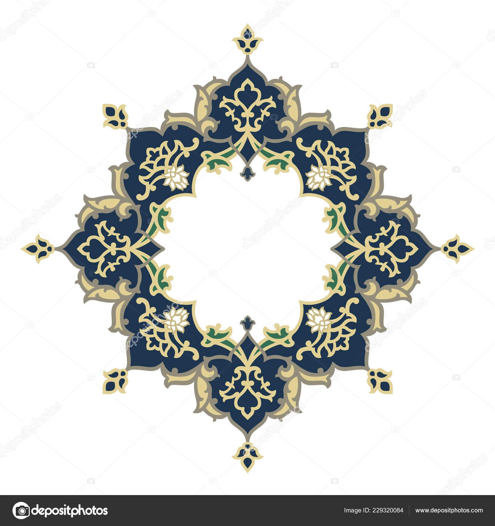Oriental Vector Ornament Used Decoration Frames Borders