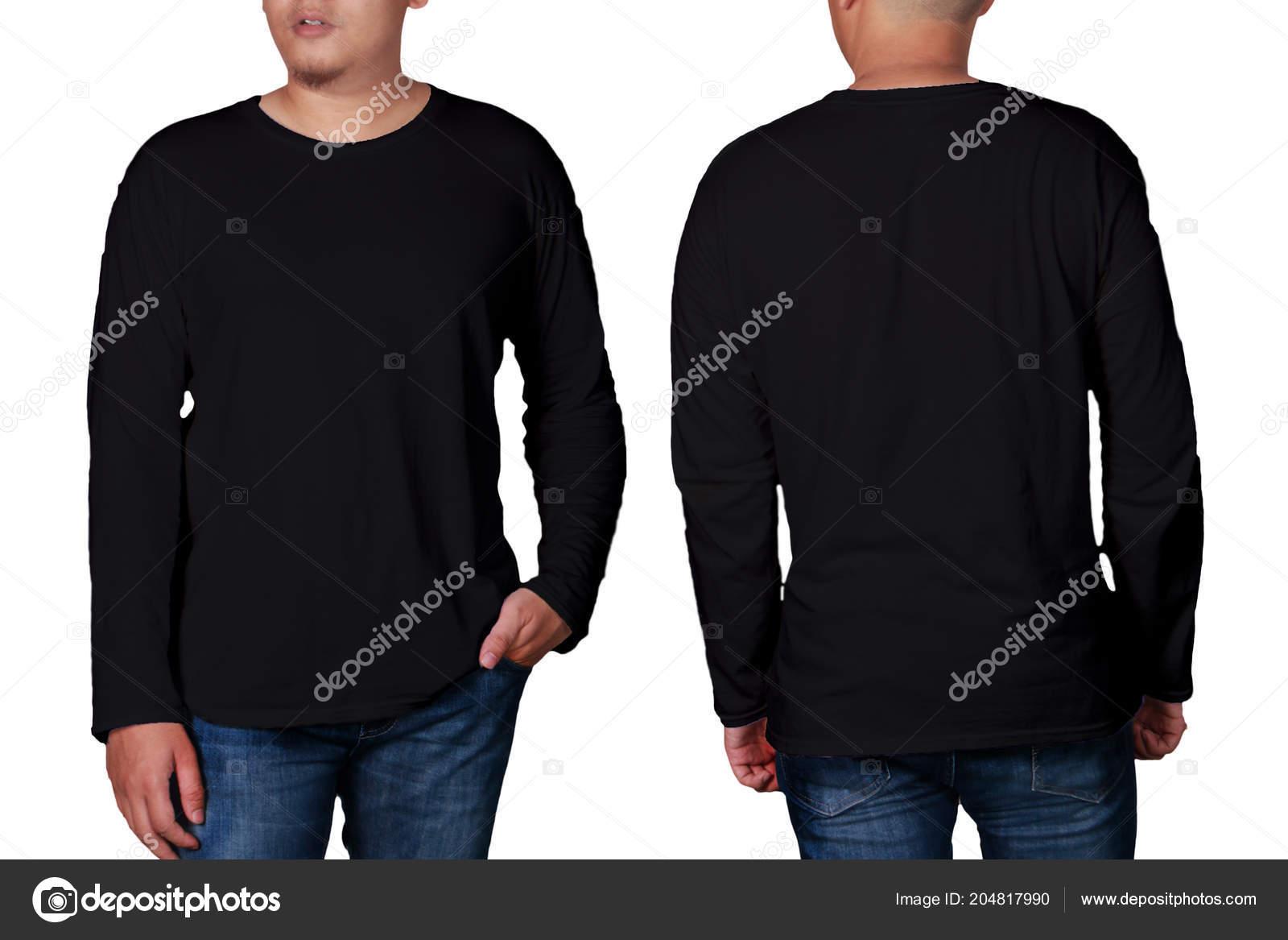 Long Sleeve Shirts Mockup Black Long Sleeved Shirt Mock