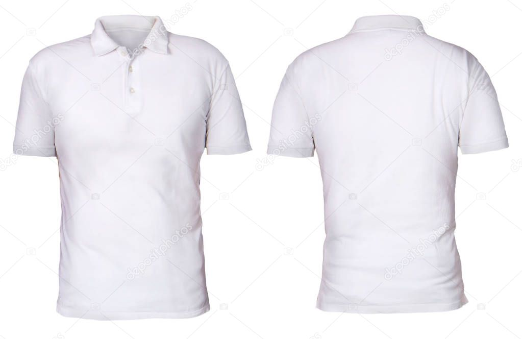 Blank Polo Shirt Mock Template Front Back View Isolated ...