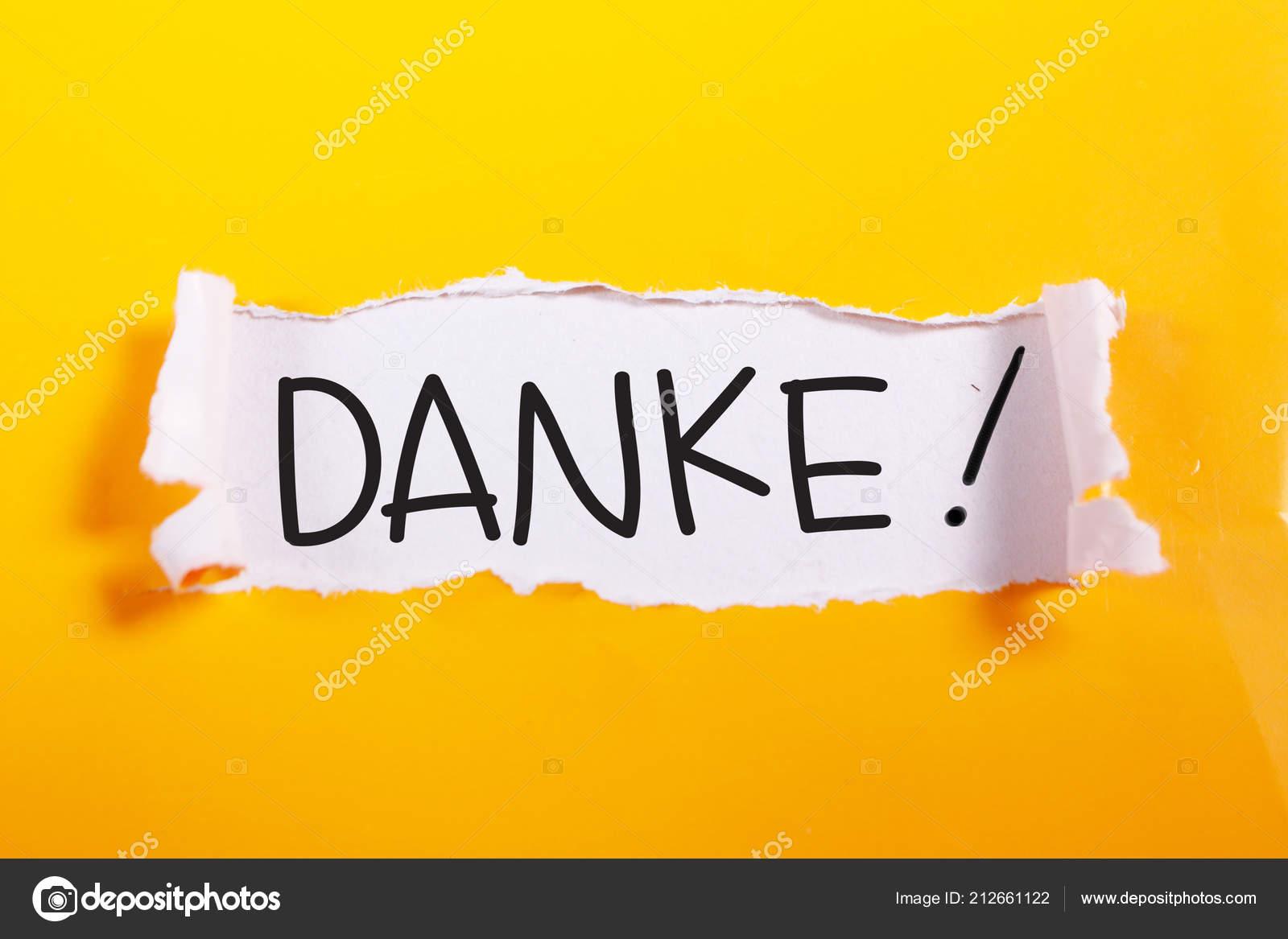 Danke Deutsch Danke Wörter Schreiben Auf Memo Zettel Geschrieben