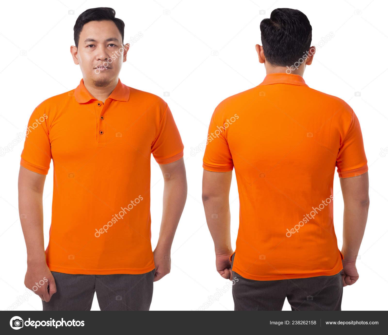 orange polo shirt back