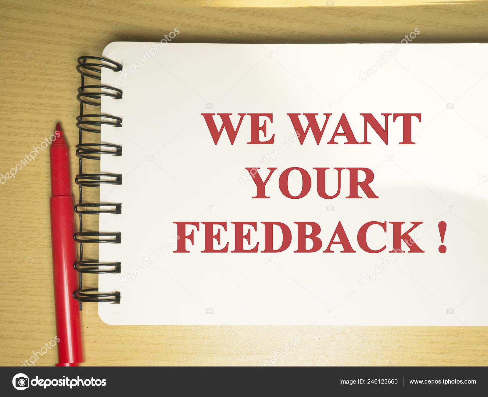 Queremos Sus Comentarios Marketing Motivación Negocio