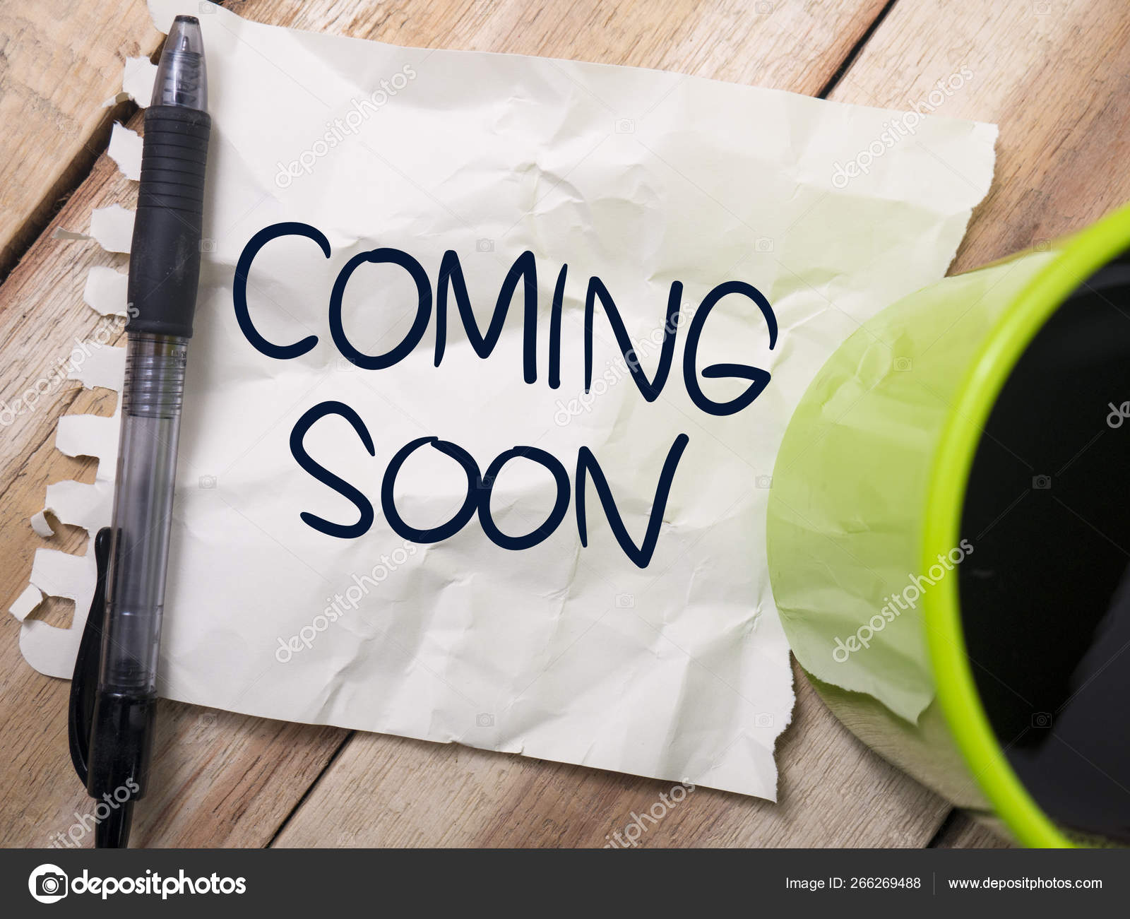 Coming Soon Words Typography Concept Stock Photo C Airdone 266269488