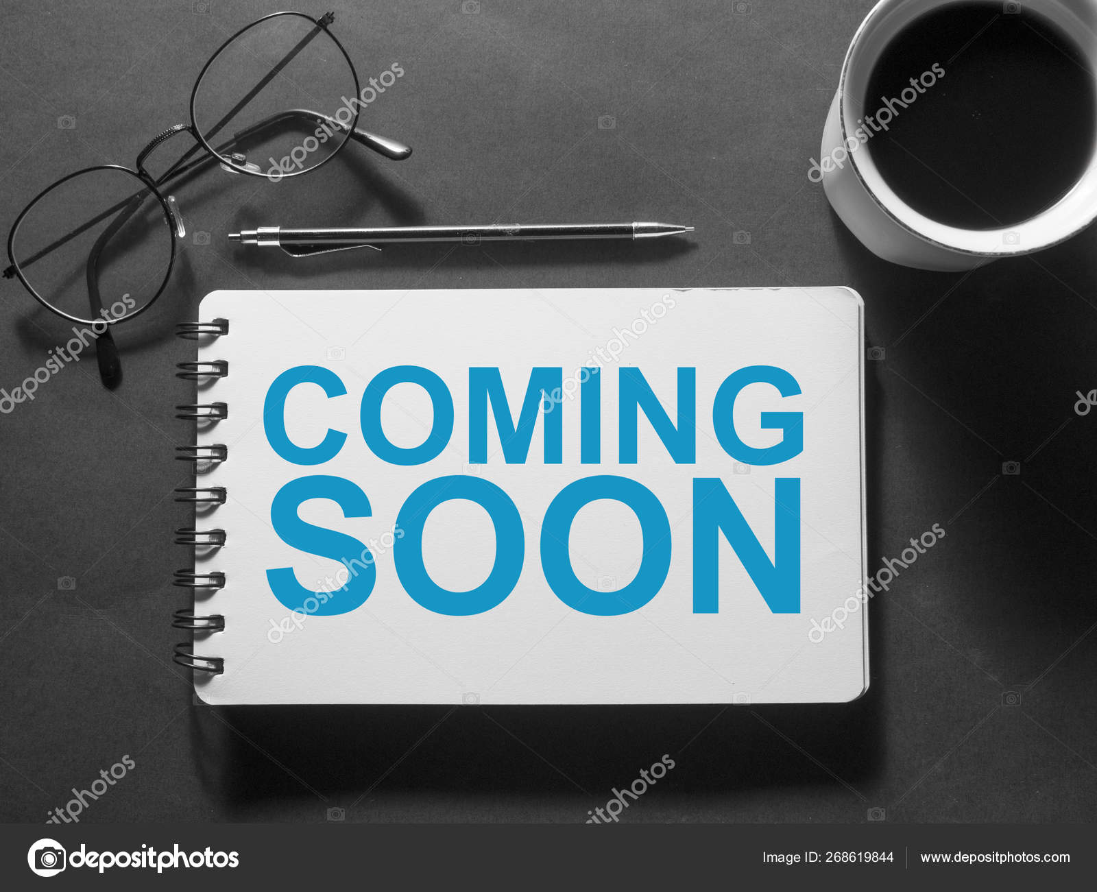 Coming Soon Words Typography Concept Stock Photo C Airdone 268619844