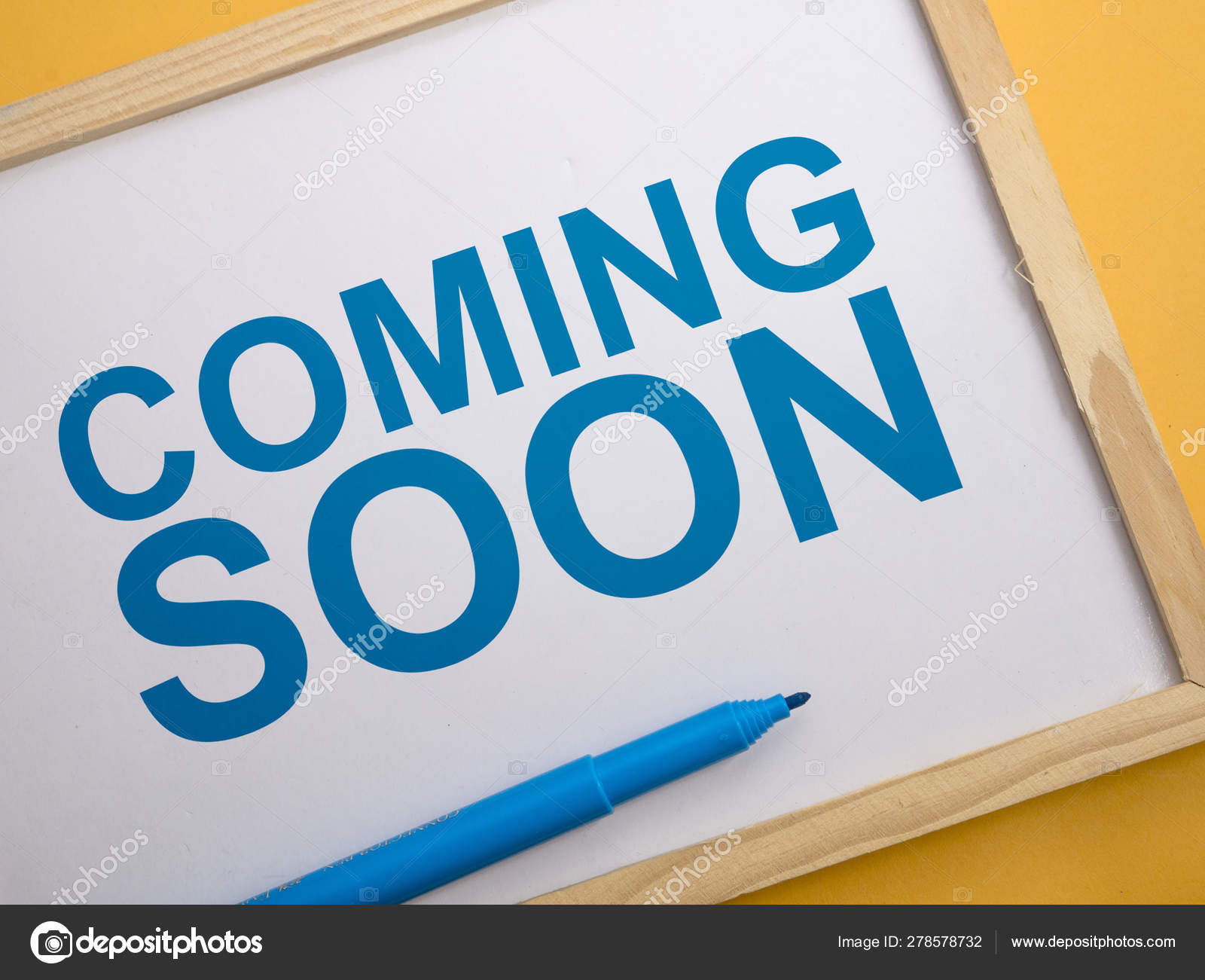 Coming Soon Words Typography Concept Stock Photo C Airdone 278578732