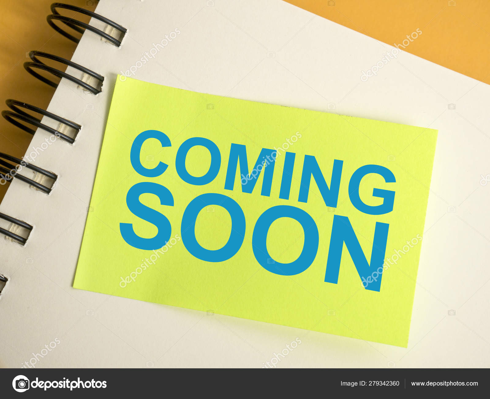 Coming Soon Words Typography Concept Stock Photo C Airdone 279342360
