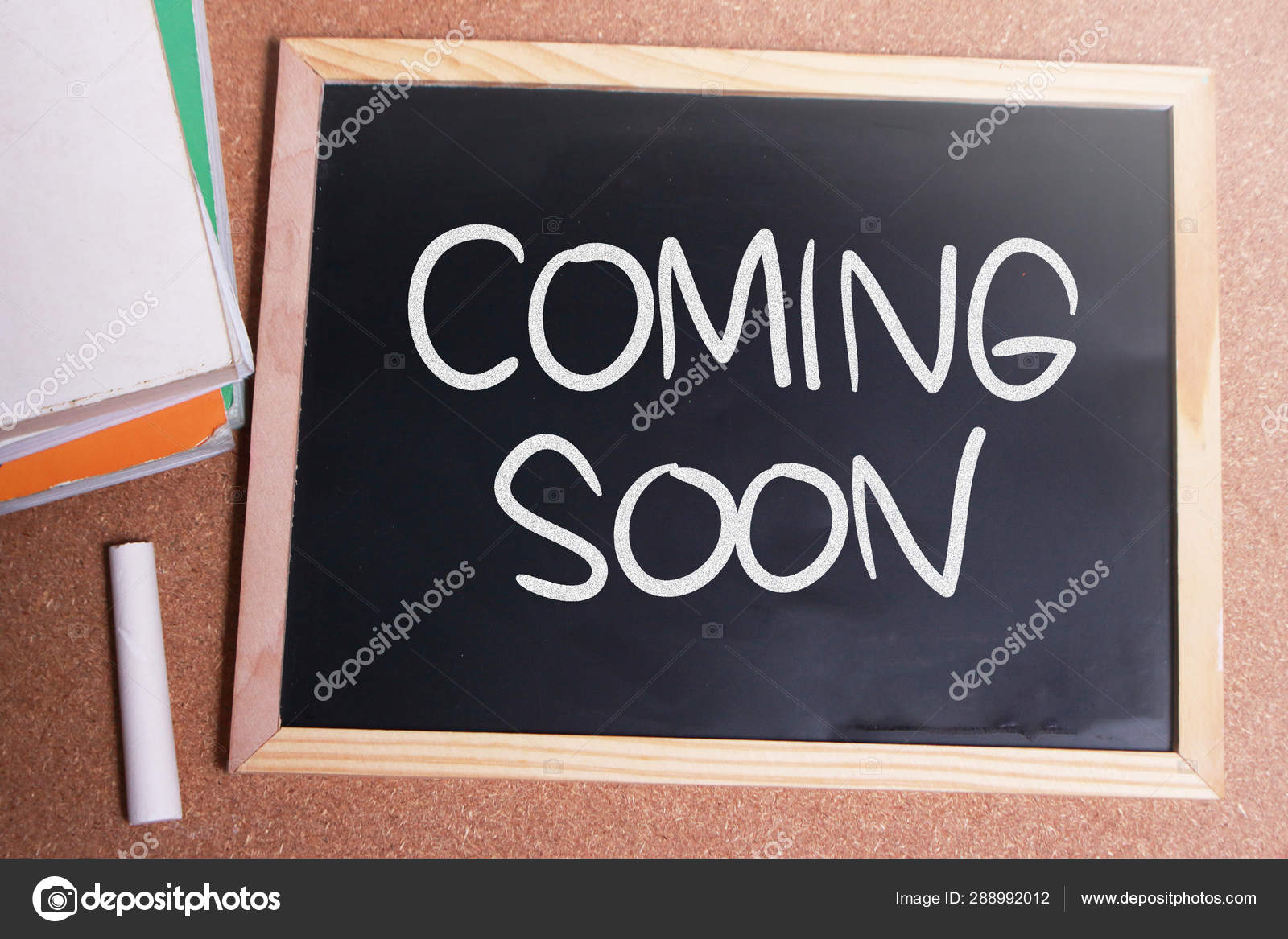 Coming Soon Words Typography Concept Stock Photo C Airdone 288992012
