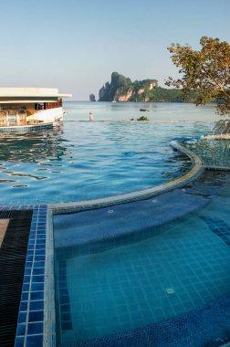 Pool at Ao Loh Dalum beach, Phi Phi Don Island, Krabi Province, Thailand. Koh Phi Phi Don is part of a marine national park.