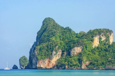 Limestone cliffs of Phi Phi Don Island, Krabi Province, Thailand. Koh Phi Phi Don is part of a marine national park.