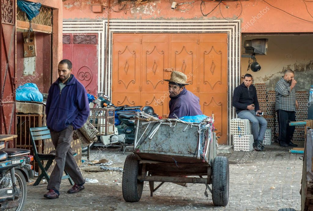 Traditional market in Marrakesh, Morocco