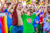 Portland, Oregon, Usa – 17. června 2018: Portland 2018 Pride Parade odráží rozmanitost Společenství.