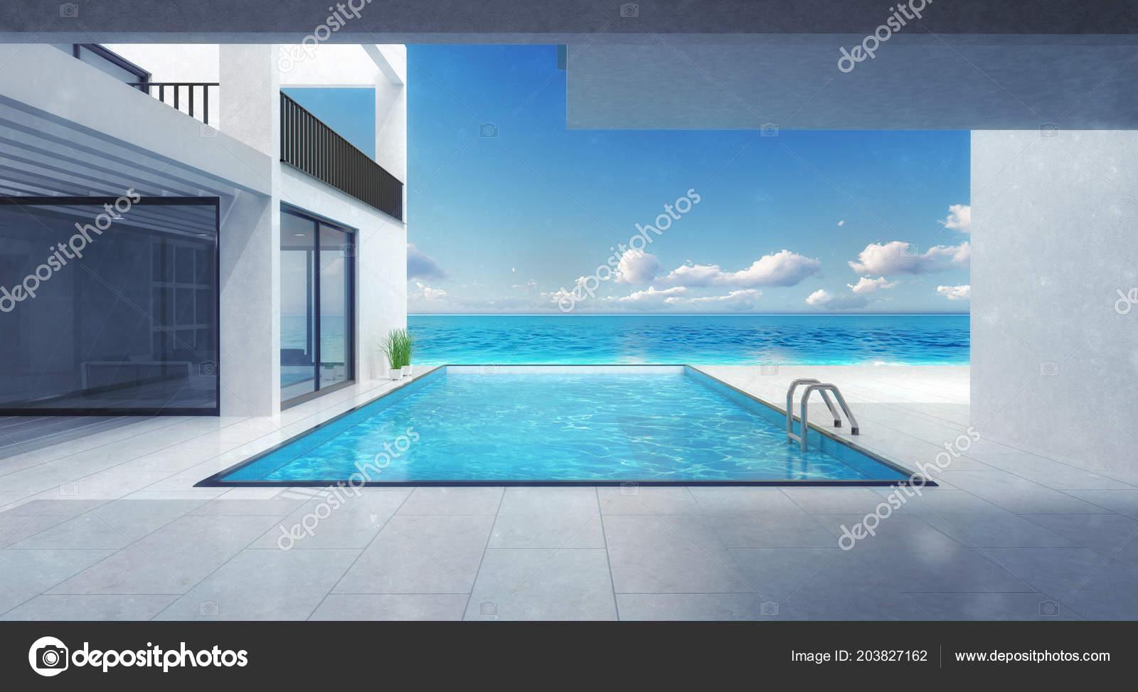 Minimalistische villa residentie met zwembad prive strand vakantie
