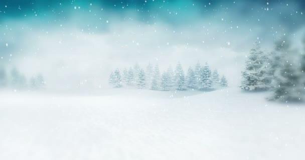 Snowy Landscape Winter Seasonal Atmosphere Winter Seasonal Footage
