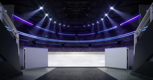 Entering Ice Rink Ice Hockey Stadium Sport Match Invitation Animation Stock Video C Adikk 254799610