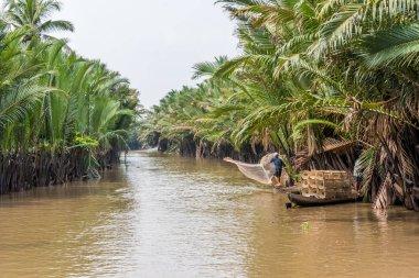 View of Mekong Delta in Vietnam stock vector