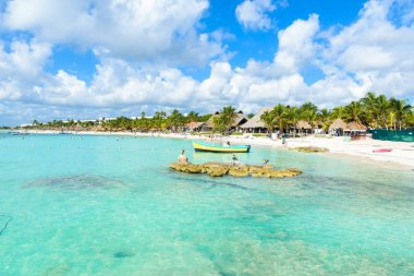 Riviera Maya - paradise beach Akumal at Cancun, Quintana Roo, Mexico - Caribbean coast - tropical destination for vacation