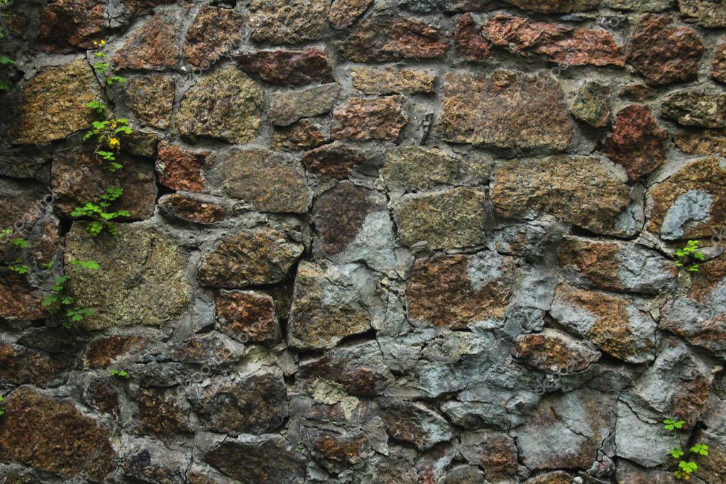 old brick and stone wall
