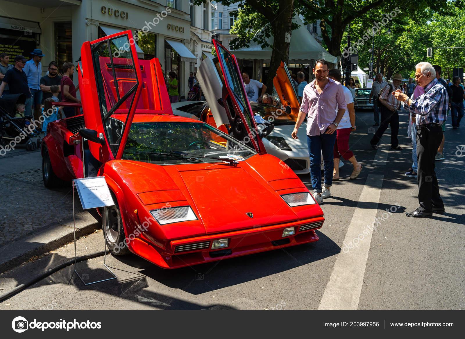 Berlin June 2018 Luxury Sports Car Lamborghini Countach 5000