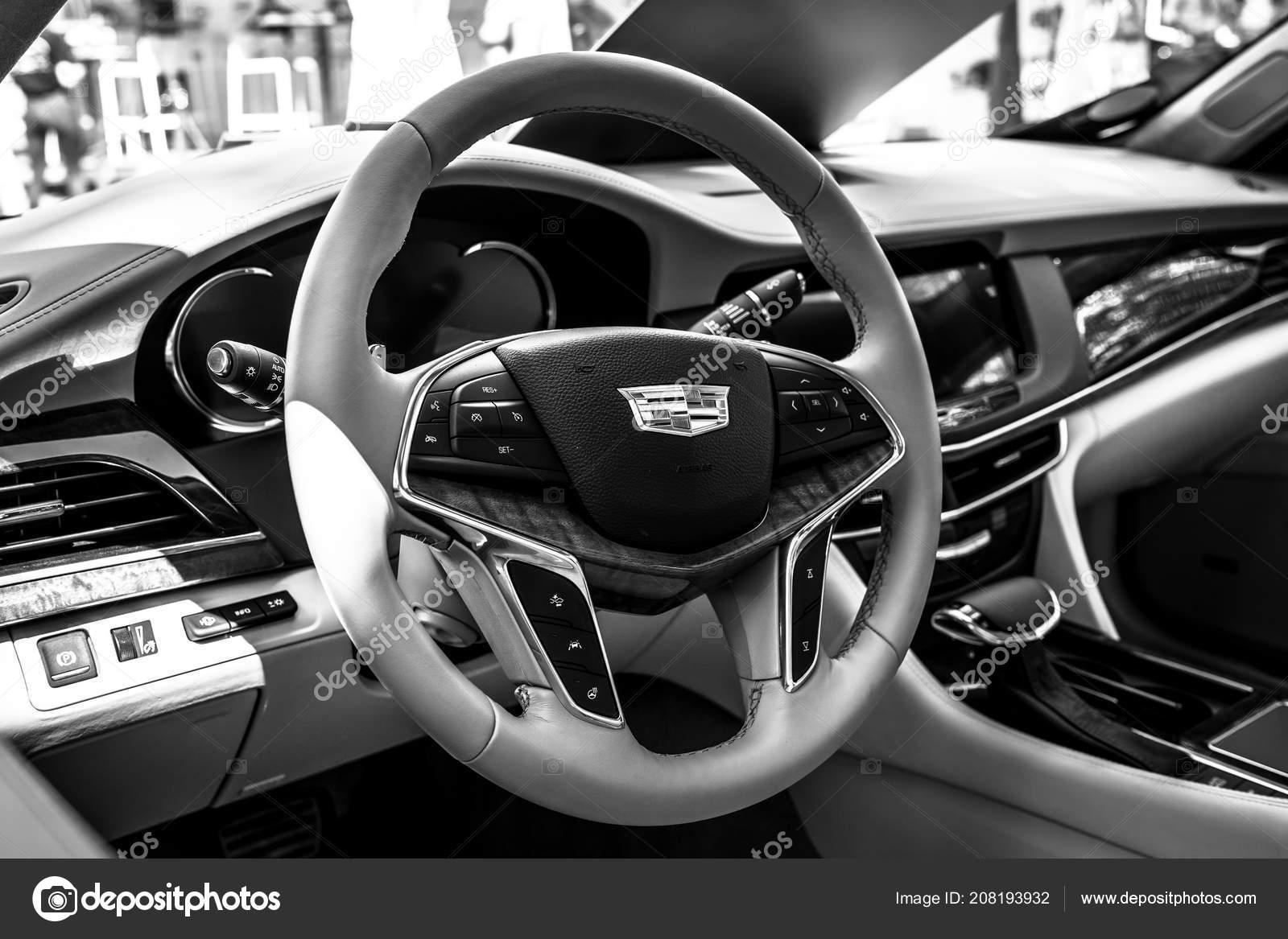 Berlin June 2018 Interior Full Size Luxury Car Cadillac Ct6 Stock