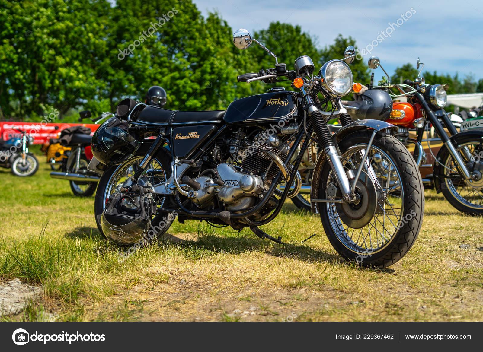 Paaren Glien Germany May 2018 Classic British Motorcycle Norton Commando Stock Editorial Photo C S Kohl 229367462
