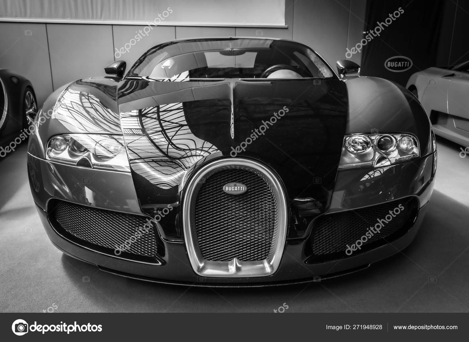 Berlin May 2019 Sports Car Bugatti Veyron Black White 32th Stock Editorial Photo C S Kohl 271948928