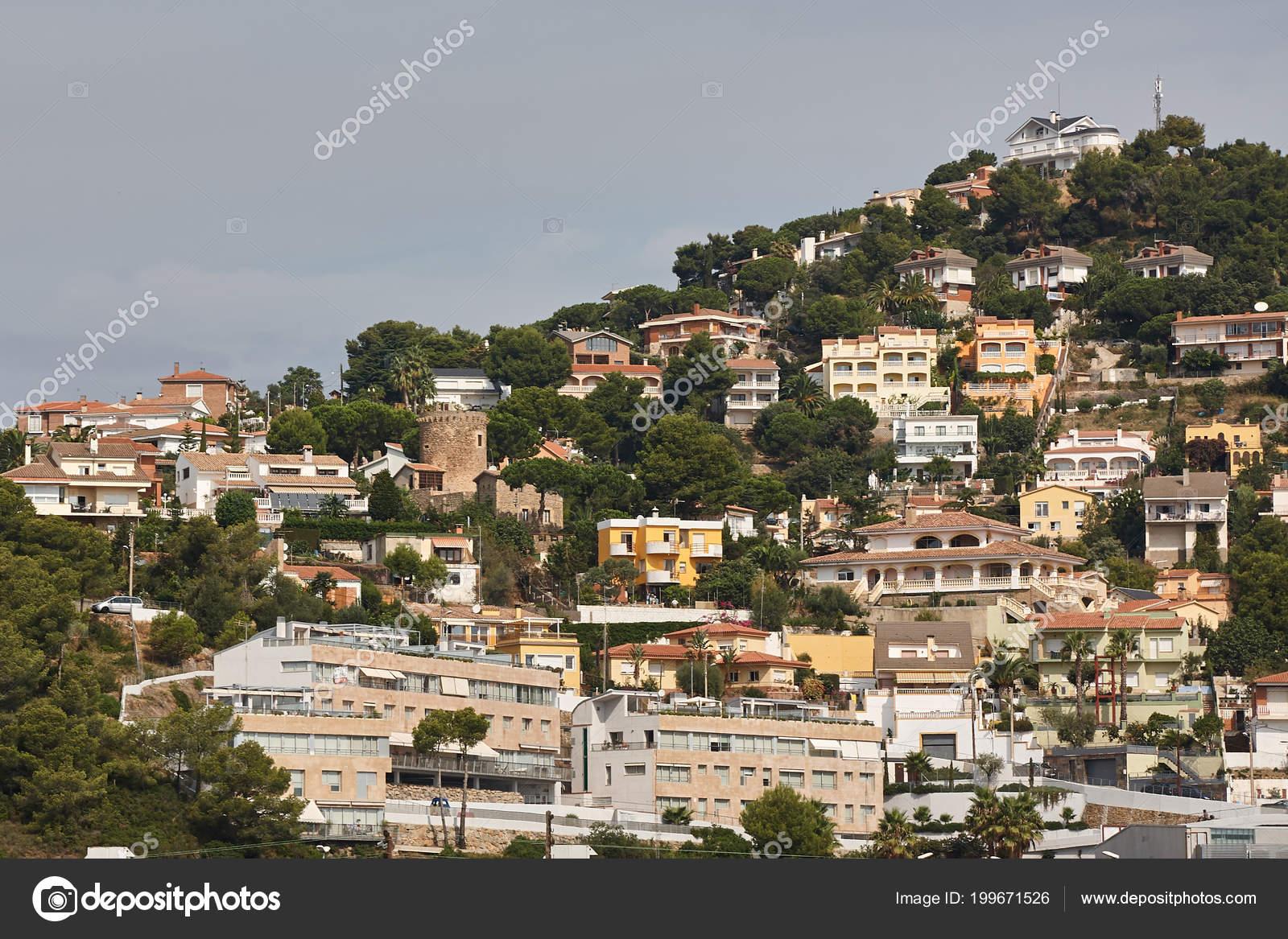 Paysage de la ville santa susanna espagne photographie for Paysage de ville