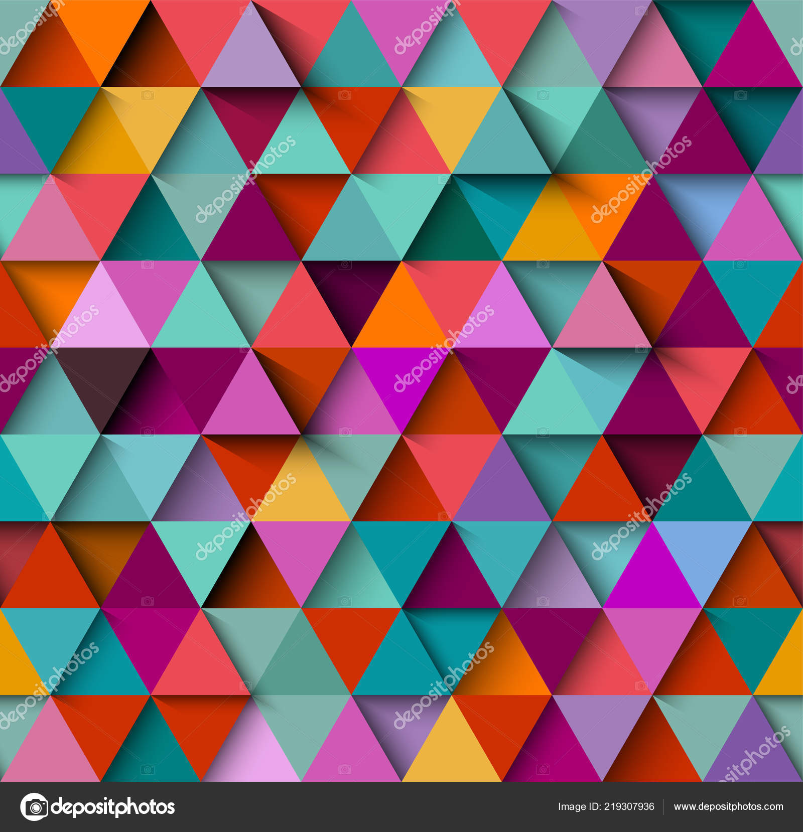 colorful abstract background template triangles stock vector