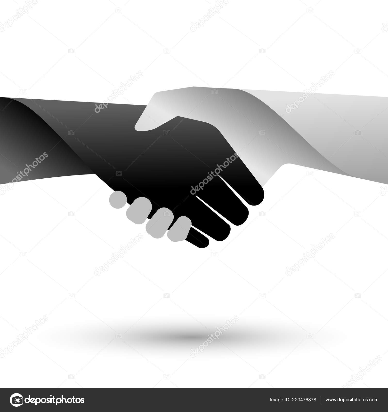 handshaking sign white background stock vector anitaponne 220476878
