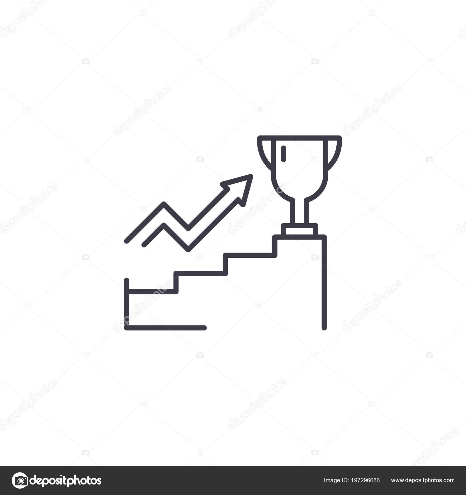 Leadership ambitions linear icon concept  Leadership