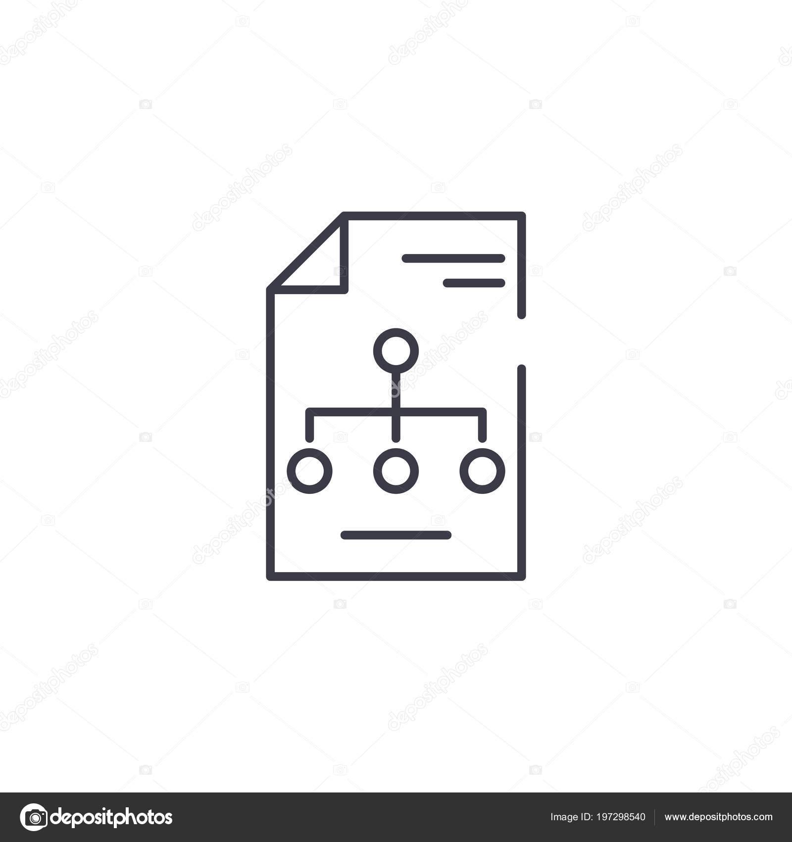 Concepto De Estructura Organizativa Lineal Icono Estructura