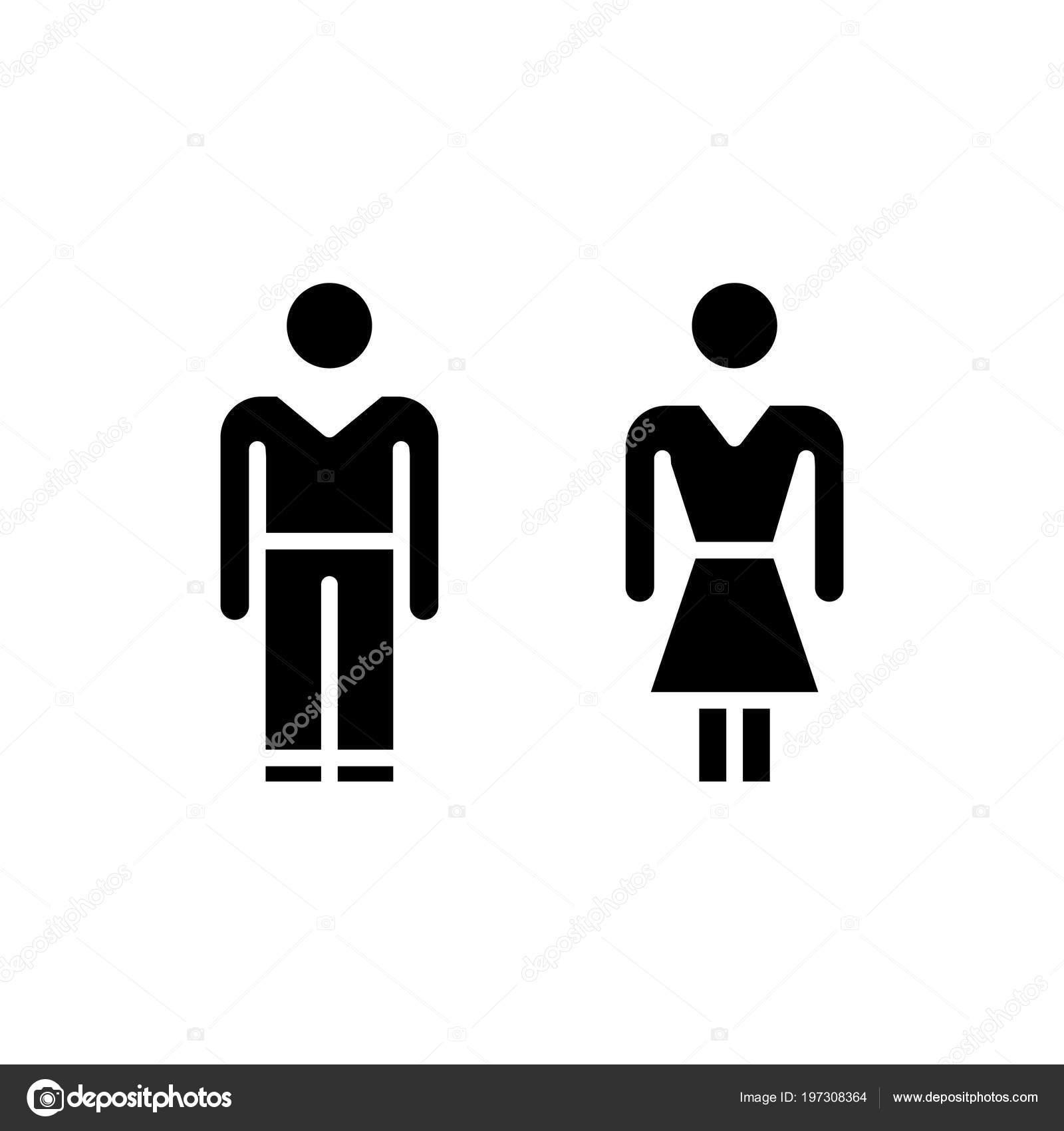 Public toilet black icon concept. Public toilet flat vector symbol ...