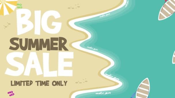 Animace z velké letní prodej video na pozadí