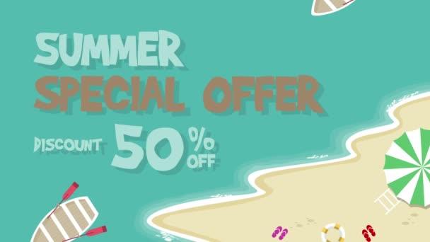 Letní speciální nabídka animace pozadí kolekce