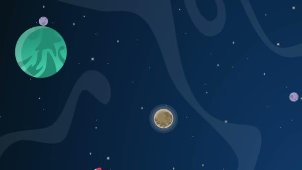 bolygó rajzfilm hely animációs háttér gyűjtemény