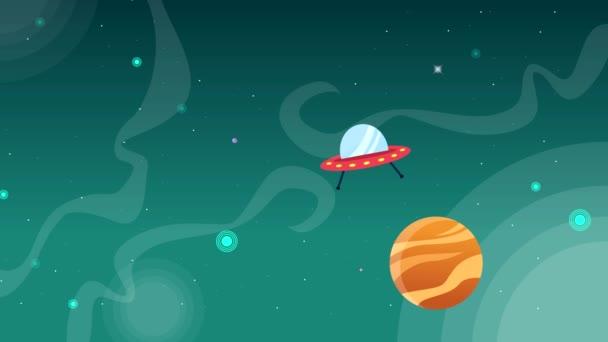 Animáció-térben zöld háttér táj